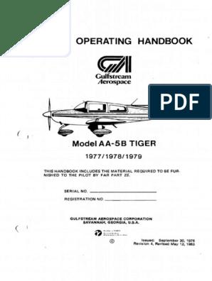 "Powder Coated Fuel Selector Handle from Grumman Single Standard 1//4/"" shaft"