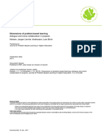 Dimensions of Problem Based Learning Dialogue and Online Collaboration in Projects Lars Birch Andreasen J Rgen Lerche Nielsen JPBLHE Vol1 Nr 1 2013