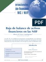 Nic 32 y 39 Baja de Un Activo Financiero