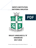 DP Malay SL B Handbook