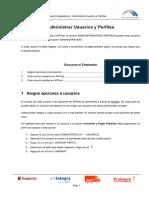 Guia de Usuario - Administrar Usuarios y Perfiles