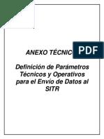 Anexo NT Definición de Parámetros Técnicos y Operativos Para El Envío de Datos Al SITR