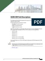 GGSN CDR Filed Description