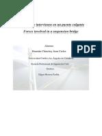 Fuerzas Que Intervienen en Un Puente Colgante