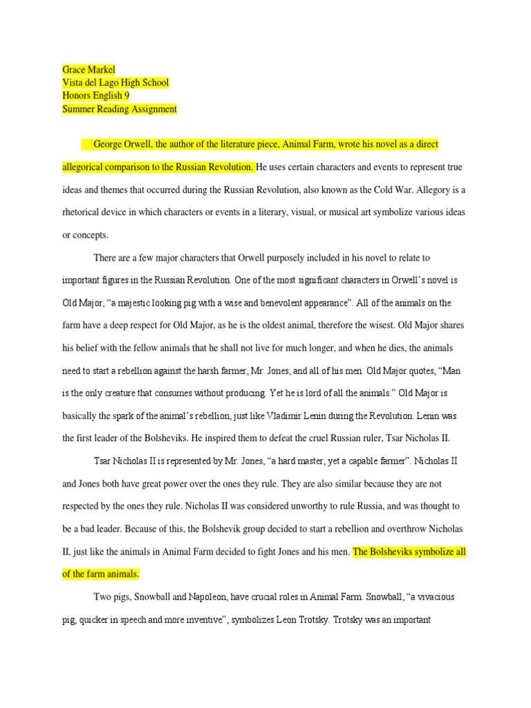 Animal Farm Essay 1 Communism Politics Free 30 Day Trial Scribd