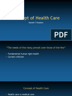 Concept of Health Care