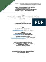 La Normativa Contable en Mexico y Su Desarrollo Hacia La Convergencia Con Las Niif
