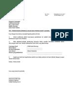 Contoh surat permohonan membuka akaun Kelab