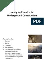 Keselamatan Kerja Pada Pekerjaan Konstruksi Bawah Tanah