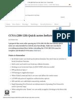 CCNA (200-120) Quick Notes Before Exam