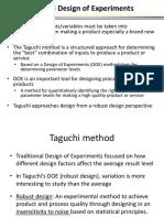 Design of Experiments via Taguchi Method