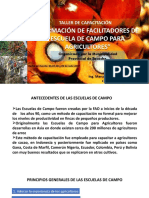TALLER FORMACIÓN DE FACILITADORES DE ESCUELA DE CAMPO PARA AGRICULTORES