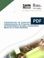 ACH Sistematización de proyecto de agua y saneamiento en Chaco Boliviano