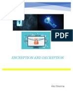 Computer Project On Encryption and Decryption for class 12th