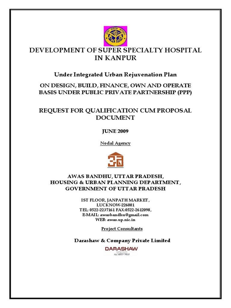 RFQ cum RFP Hospital Kanpur pdf | Request For Proposal