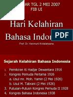 Hari Kelahiran Bahasa Indonesia