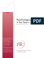 Psychological Testing Candidate Guide