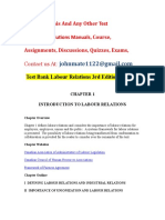 Test Bank Labour Relations 3rd Edition Solution.doc