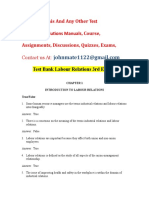 Test Bank Labour Relations 3rd Edition Solution