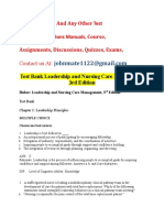 Test Bank Leadership and Management in Nursing 4th Edition