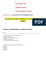 Test Bank Learning and Behavior 7th Edtion