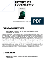 History of Frankenstein - The Weltanschauung of Mary Shelley