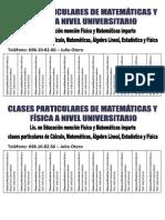Clases Particulares Julio Otero Version Universidad