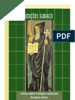 Catálogo das Edições Subiaco