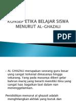 Konsep Etika Belajar Siswa Menurut Al-ghazali