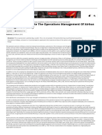 Analyze and Evaluate the Operations Management of Airbus Management Essay