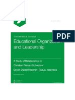 A Study of Relationships in Christian Primary Schools of Boven Digoel Regency, Papua, Indonesia