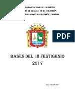 Bases III Festigenio 2017