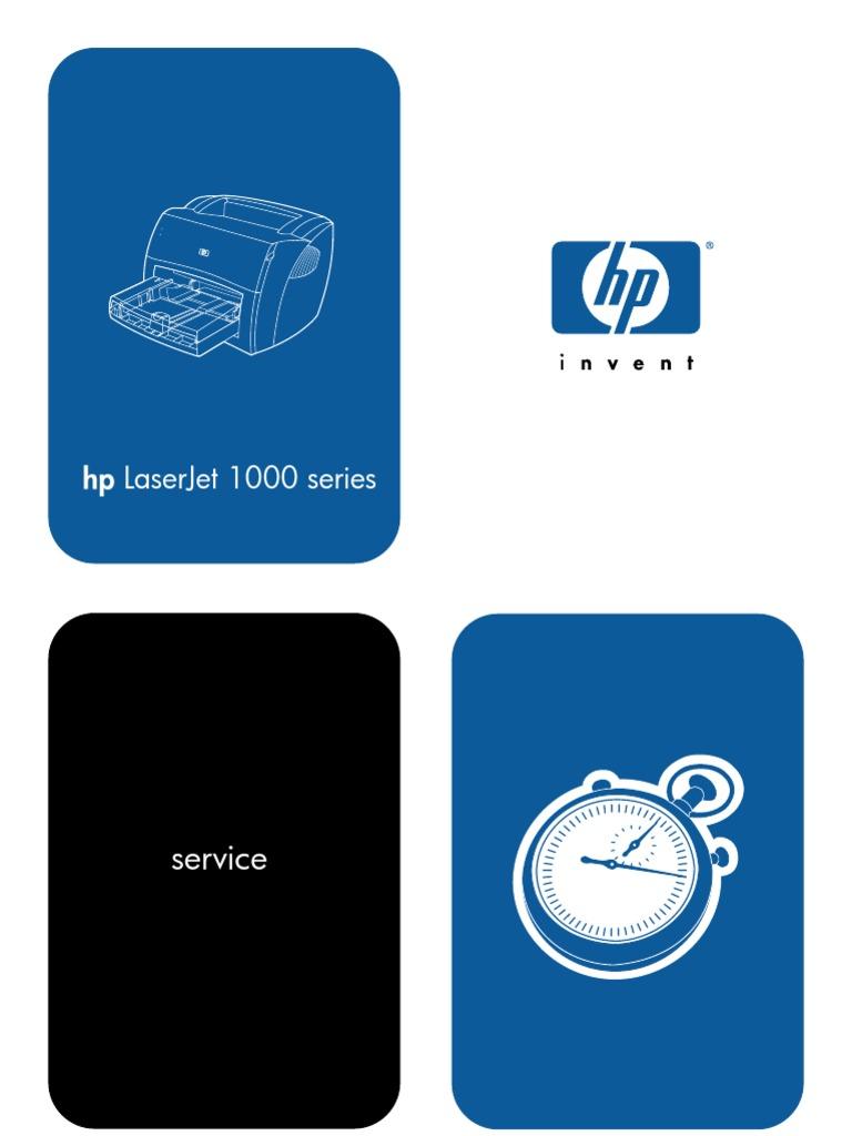 hp laserjet 1000 service manual hewlett packard printer computing rh scribd com HP LaserJet 1200 HP LaserJet 1200