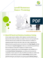 HR Payroll and Statutory Compliance Training Institute
