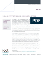 India BS VI Policy Update VF