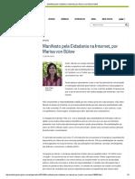 Manifesto Pela Cidadania Na Internet, Por Marisa Von Bülow Noblat