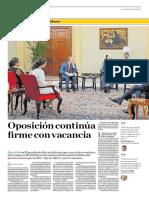 Oposición Continua Firme Con Vacancia
