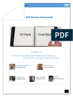 Cookbook SAP Self Service Procurement