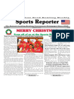 December 19 - 25, 2017  Sports Reporter