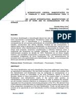 ARTIGO - Flexibilização e Intensificação Laboral - Manifestações Da Precarização Do Trabalho e Suas Consequencias Para o Trabalhador
