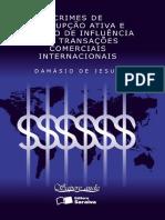 JESUS, Damásio de. Crimes de corrupção ativa e tráfico de influência nas transações comerciais internacionaais.pdf