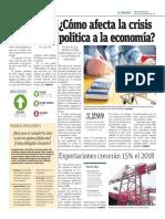 Cómo Afecta La Crisis Política a La Economía