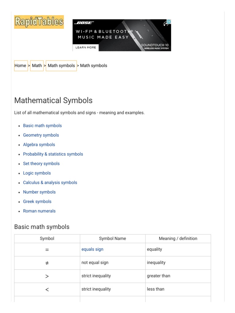 Mathematical symbols list x derivative variance buycottarizona