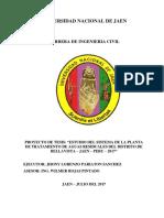 Proyecto de Tesis PTAR de Bellavista