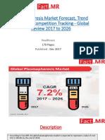 Plasmapheresis Market Forecast, Trend Analysis & Competition