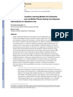 Translation of Associative Learning Models Into Extinction