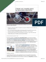 Consejos a tener en cuenta para comprar una bicicleta eléctrica - 20minutos.es