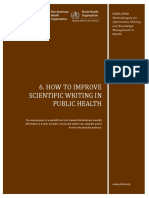 How to Improve Scientific Writing in Public Health - PAHO