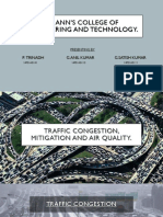 Traffic Congestion, Mitigation and Air Quality