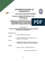 Informe de Certificado de Practicas Pre-profesionales